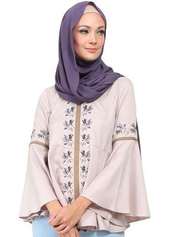 Atasan Wanita Blouse Muslim Tunik Chic Pinguin Lengan Panjang Jumbo 7 model baju muslim modern untuk lebaran 2017 ide model