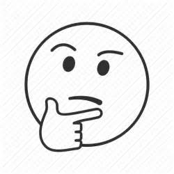 Thinking Outline by Emoji Possible Solutions Thinking Thinking Thoughts Wondering Wondering Icon