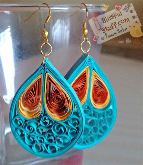 Paper Jewellery Tutorials - diy quilled paper earrings paper quilling earrings