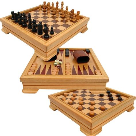 Gamis Set 2 25 Yb192 7 in 1 wooden board set compendium travel