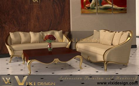 Living Room Gold Sofa Luxury Sofa Set Classic Modern Gold Leaf Vixi Design