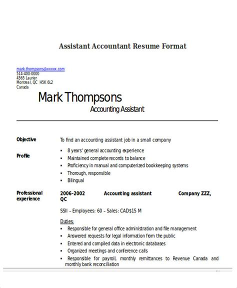 cv accountant exle doc 33 accountant resumes in doc free premium templates