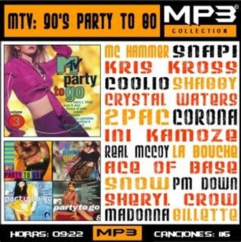 crisep: mtv 90's party to go mp3 collection (116 canciones)