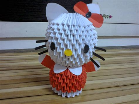 3d origami woodstock tutorial warna warni 3d origami hello kitty tutorial