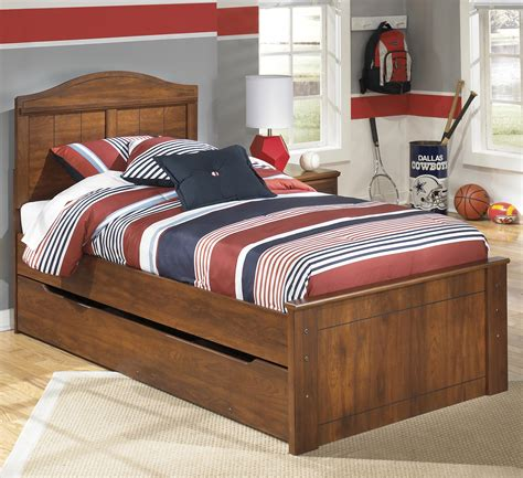 ashley signature design barchan twin panel bed  trundle  bed storage unit dunk