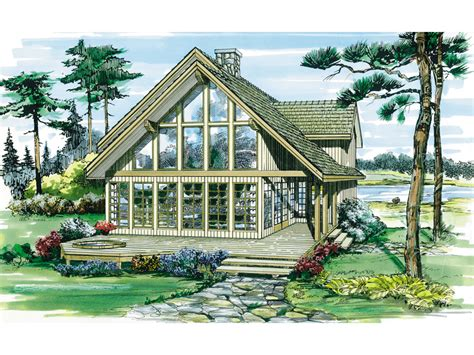 A Frame Style House Plans Oakleigh Pass A Frame Cabin Home Plan 062d 0052 House