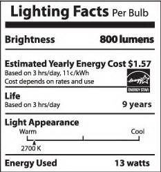 Lighting Facts by Lumens And The Lighting Facts Label Department Of Energy