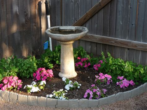 backyard corner ideas corner flower beds birdbath in flower bed my dream