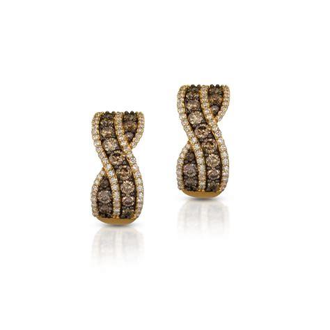 le gold le vian 14k yellow gold chocolate hoop earrings