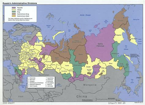russia map states states of russia map