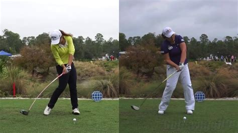 lydia ko swing golf swing lydia ko vs inbee park synced driver golf