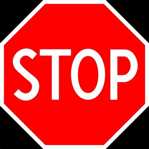 stop sign blank template imgflip
