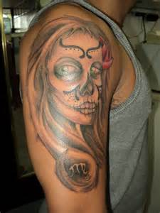 Sugar skull tattoo meaning design and pictures