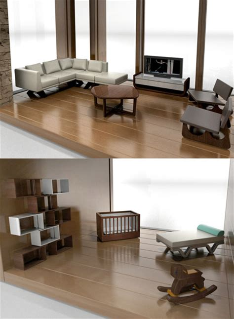 classic contemporary furniture for modern dollhouses