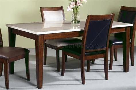 light marble top modern dining table woptional chairs