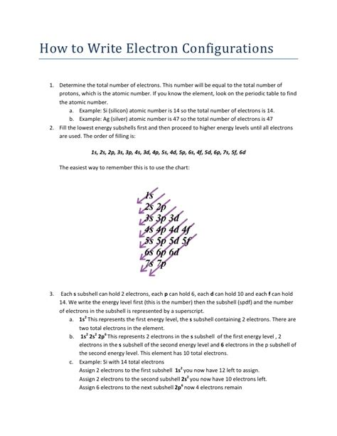 how to write electron configurations
