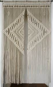 Hanging Door Curtain 2 5 Mm Macrame Door Curtain With Large Diamond