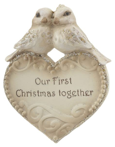 buy personalized our first christmas together lovebirds