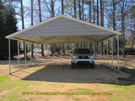 24x24 Carport Car Port Vc 6