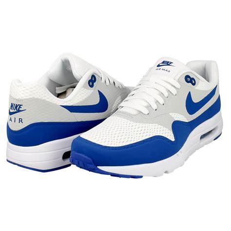 nike air max  ultra essential   white blue