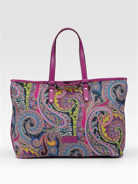 lyst etro paisley print canvas tote