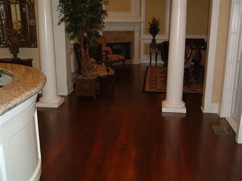 Wide Plank Rustic White Oak with Stain   Ozark Hardwood