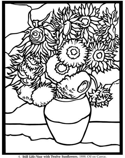 coloring pages vincent van gogh free coloring pages of vincent van gogh