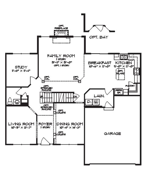 family floor plan family home floor plans