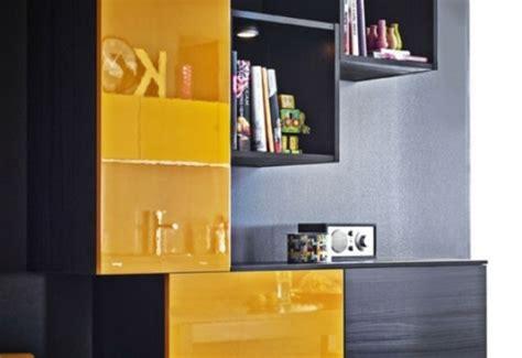 meuble cuisine jaune la cuisine d 233 cor 233 e en jaune et noir 15 exemples
