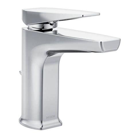moen single hole bathroom faucet moen via single hole 1 handle bathroom faucet in chrome