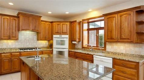 Oak Kitchen Units by Kitchen Oak Kitchen Cabinets With Granite Countertops