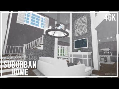 bloxburg aesthetic suburban home speed build gg