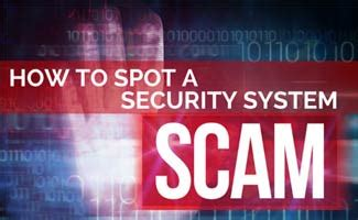 security system scams what to look for asecurelife