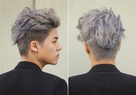 bleached hair  men achieve  platinum blonde