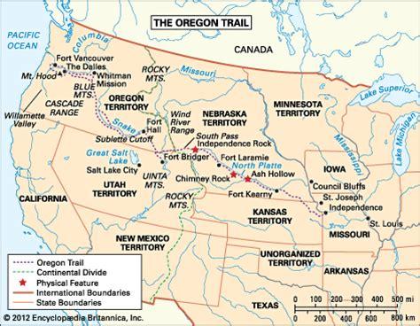 the oregon trail map oregon trail map britannica homework help