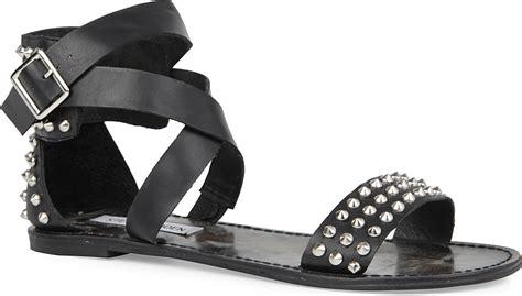 steve madden studded sandals steve madden buddies studded gladiator sandals in black