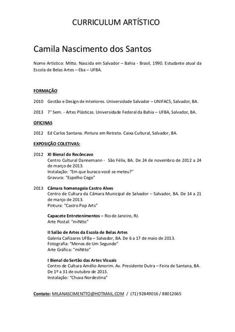 Modelo Curriculum Artistico Curriculum 237 Stico Pdf