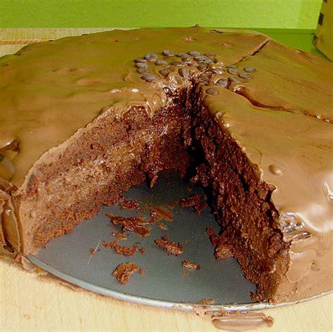 nutella schoko kuchen schoko kuchen mit nutella sahne f 252 llung rezept mit