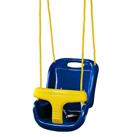 high back swing gorilla playsets blue infant swing with high back 04 0032
