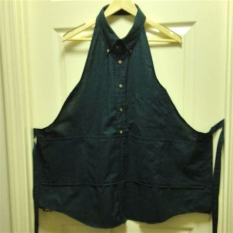 apron pattern made from man s shirt apron made out of a mans shirt sewing projects ideas