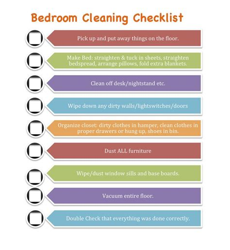 cleaning bedroom checklist clean bedroom checklist for kids youll also notice the