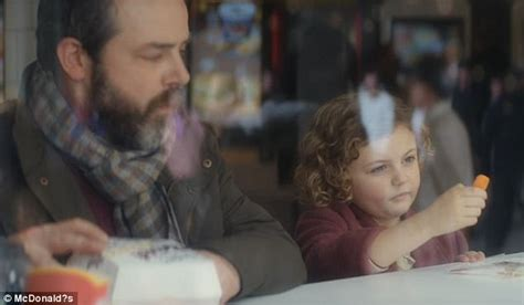 tattoo girl mcdonalds advert mcdonald s christmas advert launches daily mail online