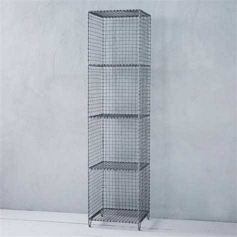 Mesh Shelf by Wire Mesh Storage Industrial Bookcases By Westelm Au