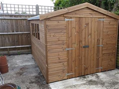 9x8 wooden shed info desk work