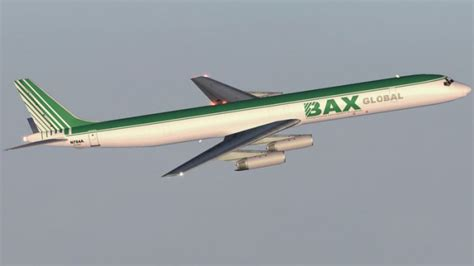 burlington air express dc 8 63f cargo airlines bax global