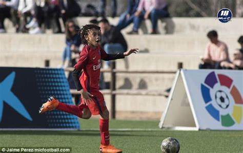 kylian mbappe debut kylian mbappe s younger brother ethan scores on psg u12s