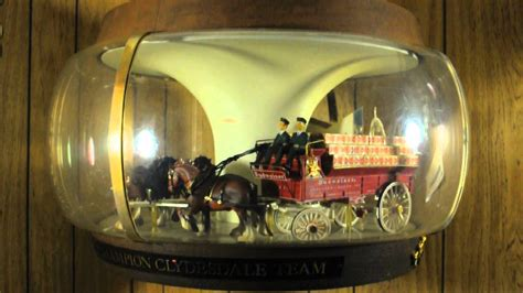 Lighted Globe Budweiser Vintage Champion Clydesdales Carousel Parade Bar