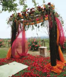 wedding decorations for fall fall wedding ceremony decoration with orange