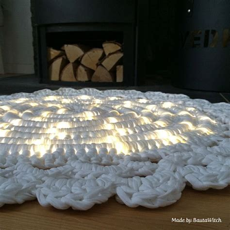 Rope Light Crochet Rug by Rig Crocheted Around A Rope Light I Bought More Yarn