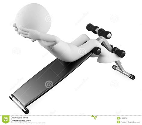 sit ups on bench athlete in a sit ups bench stock photography image 21651782